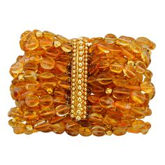 Verdura Citrine and Yellow Gold Bead Bracelet explore items from 1,700 global dealers at 1stdibs.com