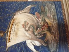 Sea monster, detail on maps in the Vatican map hall