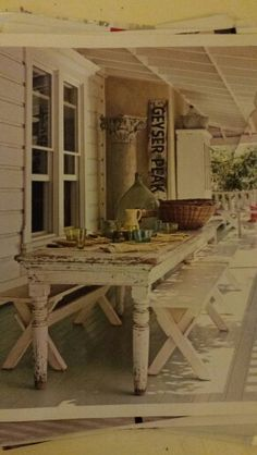 Love porch collums table and sign