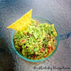 Thrift for Today: Holy Guacamole Easy guacamole recipe. Great dip for parties, get togethers, or taco night at home!