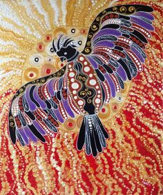 Red-tailed Black Cockatoo Aboriginal Art Animals, Aboriginal Dot Painting, Dot Art Painting, Australian Painters, Australian Art, Owl Art, Bird Art, Aboriginal Tattoo, Indigenous Art