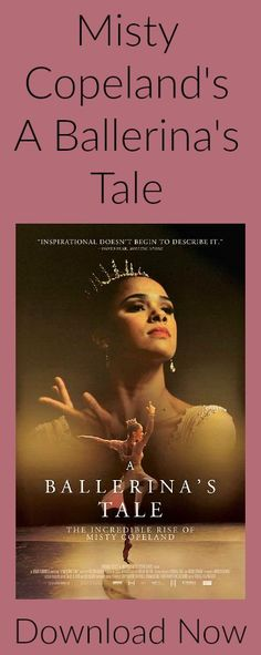 A Ballerina's Tale - Misty Copeland    Documentary on the grueling determination of one of our greatest dancers...Misty Copeland.  Watch on Netflix now!!