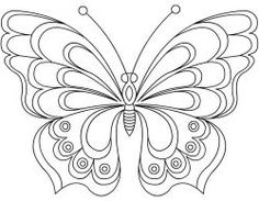 Butterfly Coloring Pages, Learn More About Butterfly Here. Butterfly coloring pages collection. Print a free selection of butterfly coloring and drawing for chi Butterfly Coloring Page, Butterfly Drawing, Butterfly Embroidery, Butterfly Stencil, Machine Embroidery Designs, Embroidery Stitches, Embroidery Patterns, Paper Embroidery, Butterfly Template
