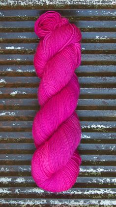 Fiery Flamingo - 4-ply/fingering weight Bluefaced Leicester yarn by Kettle Yarn Co. on Etsy