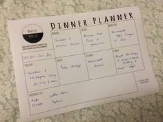 Free Printable Dinner Planner #mealplanner #dinnerplanner #printable