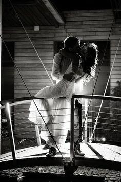 Black and White Wedding Photography: The Wedding Kiss