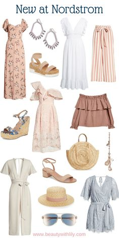 New At Nordstrom // New Nordstrom Arrivals // Summer Fashion // Spring Fashion Cute Summer Outfits, Spring Outfits, Casual Outfits, Cute Outfits, Fashion Outfits, Fashion Tips, Summer Work Wardrobe, Spring Summer Fashion, Autumn Fashion