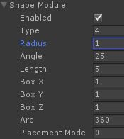 Unity Shape Module