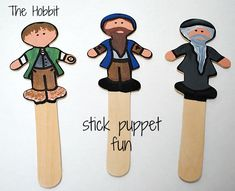 Craft Stick Characters.  Thinking about modifying this onto clothespins.  Then I can place students work and change it up as we progress with the story