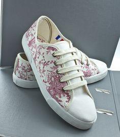 Olanthe toile de jouy sneakers