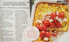 Zucchini and sweet potato impossible pie