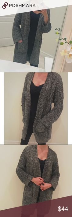 Gray Thick Knit Cardigan Sweater w  Front Pockets ▫️Brand new gray cardigan  in sealed d4d044aa1