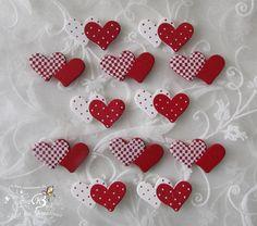 12 Doppel-Herzen, gepunktet und kariert,  von Zeit für Kreatives auf DaWanda.com