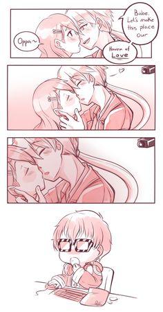 Mystic Messenger- Zen (Ryu Hyun) x Mc and Seven (Choi Saeyoung /Luciel)(707) #Otome #Game #Anime. Susanghan Messenger