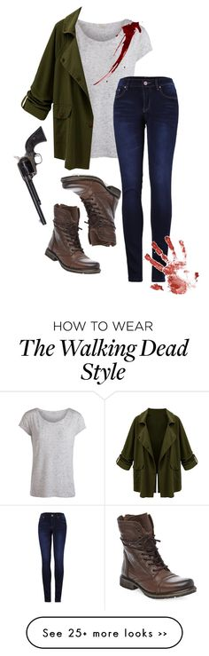 """The Walking Dead"" by haiigracee on Polyvore featuring Pieces, 2LUV and Steve Madden"