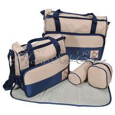 5 en 1 Bebé Bolsa De Pañales Cambiador Pañal Carro Carrito Ciberón Mummy Bolso in Bebés | eBay