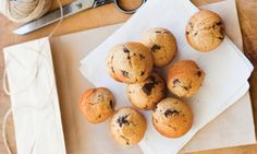 Mini wholemeal choc chip muffins