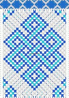 Strings: 30 Colors: 3 Rows: 40 #FriendshipBracelet #Celtic #10182