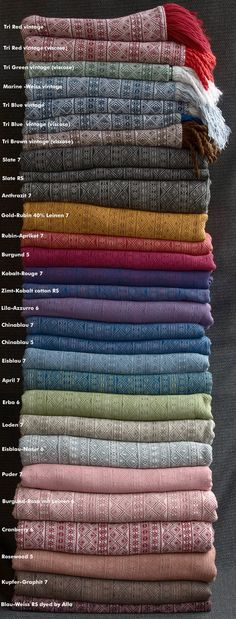 Didymos Indios - in almost every colour