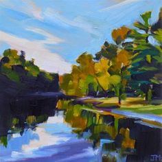"Daily Paintworks - ""Black Rock Park No. 7"" - Original Fine Art for Sale - © Jessica Miller"
