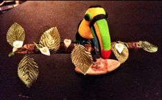 Sculpey clay Toucan on branch