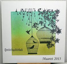 Ystävänpäiväkortti, Kaisercraft - Hummingbird