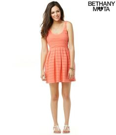 4e1e16bc5c9 Bethany Mota Radiant Coral Lace Knit Dress Bethany Mota Outfits
