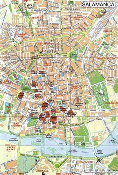 Mappa di Salamanca in Spagna