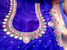 Mirror Work Kurti Design, Mirror Work Saree Blouse, Mirror Work Blouse Design, Cutwork Blouse Designs, Kids Blouse Designs, Wedding Saree Blouse Designs, Blouse Patterns, Magam Work Designs, Hand Designs