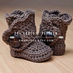 Crochet Pattern for Baby Boots Crochet Boot Pattern by EmmeCole, $5.95