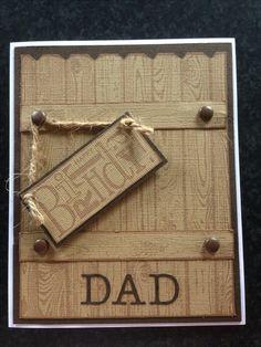 Masculine wood grain stampin up birthday card