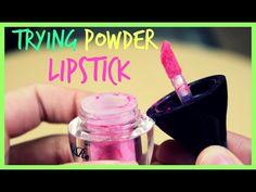 Trying Powder Lipstick? Powder Lipstick, Bb, Perfume, Cosmetics, Makeup, Youtube, Make Up, Beauty Makeup, Youtubers