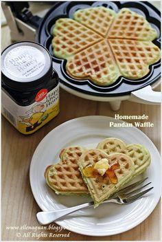 Homemade Pandan Waffle @Ellena | Cuisine Paradise