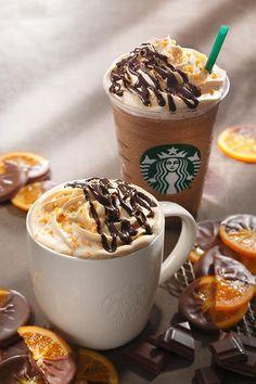Starbucks Chocolate Orange Mocha & Frappuccino