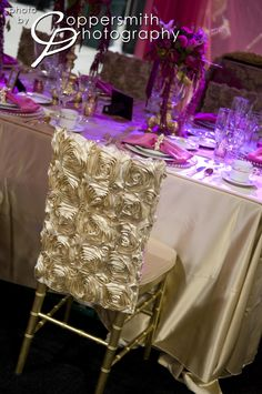 Chair Cover/ SANDRA & VERONICA WEDDING PLANNERS