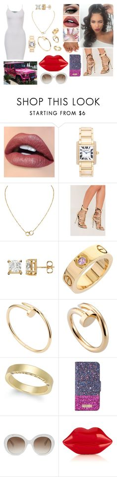 """""""What's My Name"""" by divinemaboundou ❤ liked on Polyvore featuring Tiger Mist, Cartier, Missguided, Kate Spade, Gucci and Lulu Guinness"""