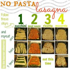 No pasta zucchini lasagna.  Gluten-free, Wheat-free, and slightly healthier, too! - The Learner Observer