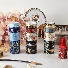 5PC Japanese Paper Retro Divine Gold Washi Tape Collection