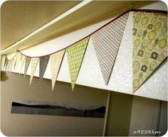 A 9554 km lluny de casa: DIY: Garlanda de banderoles (Flag Garland)