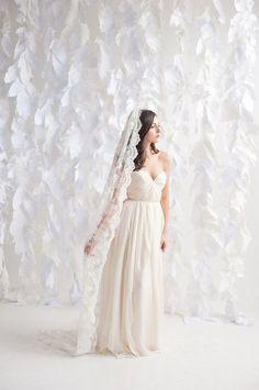 Chapel+length+lace+veil+by+TessaKim+on+Etsy,+$595.00