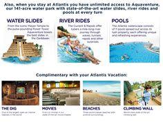 Atlantis Resort, wow lots to do! Vacation Resorts, Vacation Places, Cruise Vacation, Vacation Destinations, Dream Vacations, Vacation Spots, Atlantis Bahamas, Bahama Mama, Senior Trip