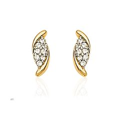 Real Gold Diamond Earrings - See more stunning jewelry at StellarPieces.com!