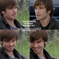 """Welcome to this fan page for the fascinating man we all know and love. He is best known for portraying """"Ty Borden"""" on the Canadian show, """"Heartland"""", but Graham has appeared in TV shows, such as """"Supernatural"""" and. Heartland Season 11, Amy And Ty Heartland, Heartland Quotes, Heartland Ranch, Heartland Tv Show, I Have A Crush, Having A Crush, Ty Borden, Ty And Amy"""
