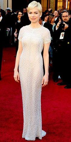 Michelle Williams in Chanel, Oscars 2011
