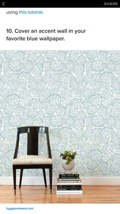 our removable wallpaper tiles can be reused and are easy to remove ideal for renters and temporary installations this petal pusher blue pattern is - Lot 6 Chaises Scandinaves2126