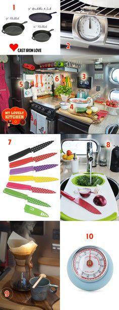 Monica's Top 10 RV Kitchen Essentials via J5MM.com  RV Kitchen | RV Kitchen Essentials | Kitchen tools | Airstream Kitchen