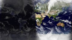 World Sunlight Map — A world map showing current sunlight and cloud cover, live.
