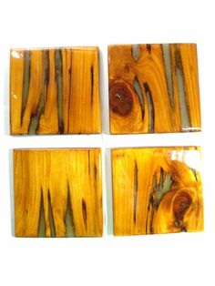 Glow In The Dark Pecky Cypress Coasters by IheartCypress on Etsy