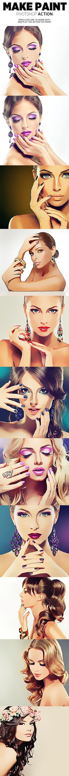 Make Paint Photoshop Action - Photo Effects Actions