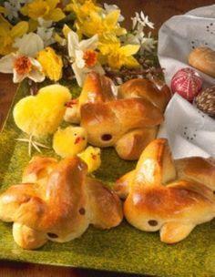 Osterhasen aus Hefeteig